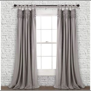 Lush Lydia ruffle curtains